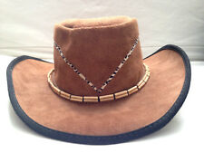 NEW! Head N' Home Soft Elegance Collection FALCON Suede Leather Cowboy Hat ML