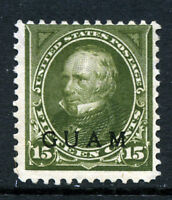 Bigjake: Guam #10, 15 cent Clay with overprint, CV:$150.00