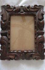 Antique Deep Hand Carved Chunky Wood Photo Art Frame 8 x 10