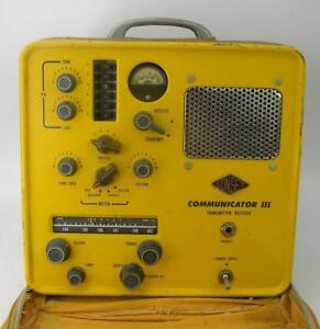 VINTAGE GONSET COMMUNICATOR II CIVIL DEFENSE TRANSCEIVER W/CASE-WORKS-VERY NICE