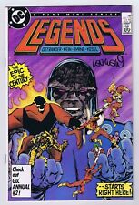 Legends #1 Intro Amanda Waller Signed w/COA by Len Wein 1986 VFNM DC Bronze PWC