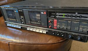 Vintage Sharp RT-W800 Duel Cassette Deck Tested Works Great!