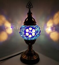 AUCTION - Turkish Moroccan Colorful Lamp Tiffany Style Glass Desk Table - B51