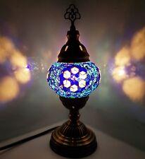 Enchères-turc marocain Coloré Lampe Tiffany Style Verre Bureau Table-B51