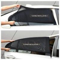 2 x Car Side Rear Window Sun Visor Shade Mesh Cover Shield Sunshade UV Protec #1