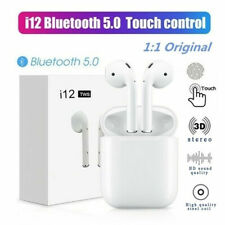 New listing i12 Tws Bluetooth 5.0 Earbuds Wireless Headphones Earphones For iphone Android
