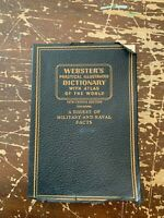 1942 Webster's Practical Illustrated Dictionary With A Digest of Military Facts