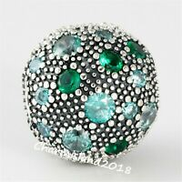 Authentic Pandora Charm 791286 Silver S925 ALE Cosmic Stars Teal Clip #Z