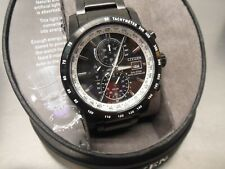 Citizen Eco-Drive Men's World Time Atomic Radio Controlled Watch # AT8175-58E
