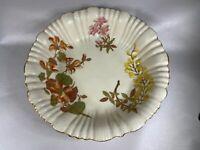 Royal Worcester Floral Bowl Ivory Orange, Yellow Pink Green Gold 1890 c349