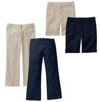 NEW Approved Schoolwear Girl's Bermuda Short's & Pants School Uniform Khaki Navy