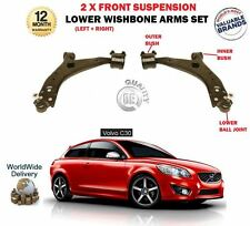 FOR VOLVO C30 2006-2012 NEW 2 X FRONT AXLE LOWER WISHBONE SUSPENSION ARMS SET