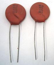 180pF, 4KV (4000VDC) Ceramic Disc Capacitors: 2/Lot