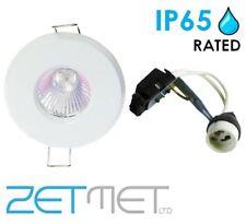 White Outdoor Soffit LED GU10 Recessed Downlight Spotlight IP65 Weatherproof