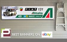 Abarth Fiat 131 Logo Banner for Workshop, Garage, Office, Man Cave, Alitalia