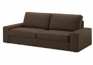 Brand New Ikea Cover for Kivik 3 Seat Sofa in Borred Dark Brown 403.429.64