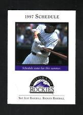 Colorado Rockies--Larry Walker--1997 Pocket Schedule--w/Spring Training