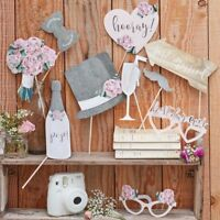 Ginger Ray 'Rustic Country' Wedding Day Party Photo Booth Props CW-246