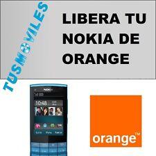 Liberar Nokia ORANGE imei X3 X6 X7 C3 C5 C6 C7 N97 N8 5800 servicio Rápido 12 h