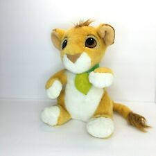 Vintage Disney Lion King Talking Simba Lion Plush Stuffed Animal 1993 Authentic