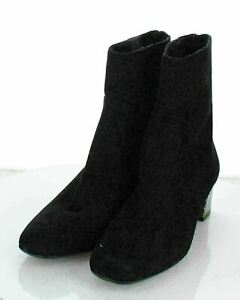T15 NEW $495 Women's Sz 42 M Ron White Odelia Suede Square Toe Booties In Black