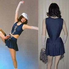 Upbeat Dance Costume Denim Skirt, Top, Mitts Cheer Baton Clearance Adult Medium