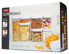 NEW OXO SoftWorks 8 Pc Assorted Food Storage Pop Container Set Housewarming Gift