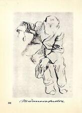 Käthe Kollwitz Werke: 2 Männerstudien Historische Grafik 1930