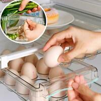 1x Egg Vegwtable Storage Box Kitchen Refrigerator Organiser Shelf Basket J7D7