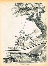 "PUBLICITE ADVERTISING 025  1955  DESSIN JEAN BELLUS  "" c'est la femelle"""
