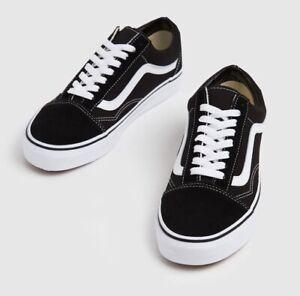 Vans Old Skool Black & White Trainers, UK Size 7.5. BNWT. RRP £60