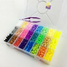 Plus Size Pegboard Ironing Beads Hama 5000PC Perler 5mm 24 Colors Box Set Toys