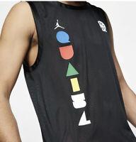 Nike Air Jordan Men's Vest Tank Jersey (XS) Black Mesh Dri Fit - CK0491-010