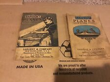 Sargent Planes and Other Tools Price List Booklets