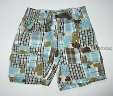 Gymboree Rhino Cutie Plaid Patchwork Shorts Baby Boys 18-24 months NEW NWT