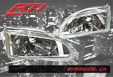 92-95 Honda Civic EG EJ EH Glass JDM Chrome Headlights + City Light SI EX SiR LX