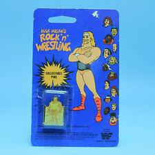 Jimmy Superfly Snuka Rare Vintage WWF Rock n Wrestling Lapel Enamel Pin Button