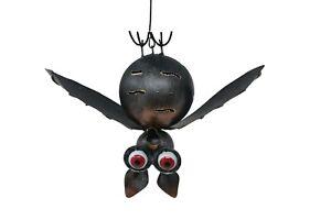 Metal Bat Tea light Holder Garden Ornament  Standing candle lantern animal