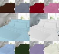 Easy care Duvet Cover Set Super King Size Double Single With Pillowcases