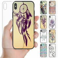 For Huawei Phone Series - Dream Catcher Theme Print Tempered Glass Back Case
