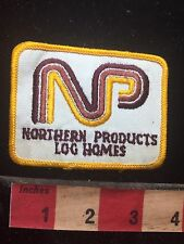 Vtg NORTHERN PRODUCTS LOG HOMES Patch 76V2