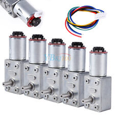 Dc 12v 10 100rpm Gear Box High Torque Geared Motor Reduction Motor With Encoder