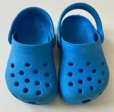 Boys Toddler Crocs Size 4/5 Electric Blue Preowned