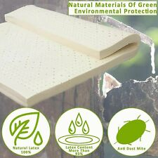 """3"""" Latex Mattress Topper Green Natural Latex Bed Pad Topper with Removable Cover"""
