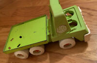 vintage ertl pressed steel kids toy truck lime green rare! Needs Repair