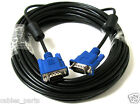 25FT 25 FT 15 PIN SVGA SUPER VGA Monitor M Male 2 Male Cable BLUE CORD FOR PC TV