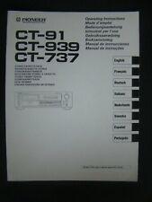 Bedienungsanleitung für Pioneer CT-91, CT-939, CT-737, Operating Instructions.