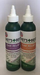Vet's Best Dog Ear Cleaner Kit | Multi-Symptom Ear Relief | Wash & Dry Kit