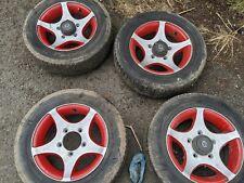 Suzuki X90 Alloy Wheels Red Inserts