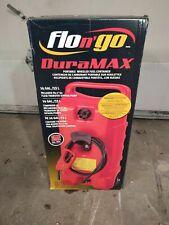 DuraMax Flo n' Go LE Fluid Transfer Hand Pump and 14-Gallon Rolling Gas Can Hose